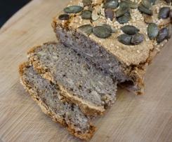 """""""Jednoskładnikowy"""" chleb dla alergików (chleb z kaszy gryczanej niepalonej)"""